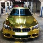 Golden BMW M5 F10