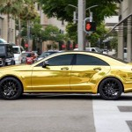 Golden Mercedes-Benz CLS W218
