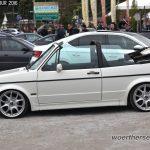 White VW Golf Mk1 Cabrio on Mini wheels