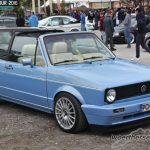 Blue VW Golf Mk1 Cabrio